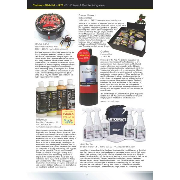 PRO Detailer Magazine - Nr. 4-2016 - New Products