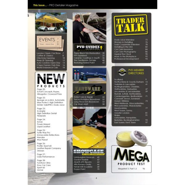 PRO Detailer Magazine - Nr. 5-2017 - Table of Contents
