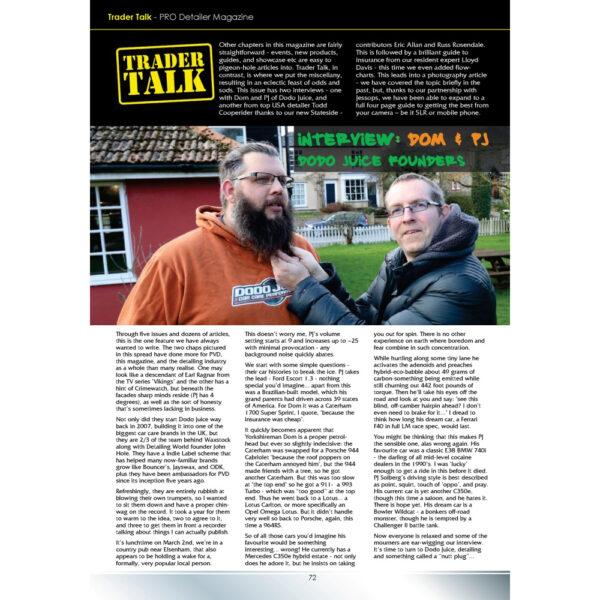 PRO Detailer Magazine – Nr. 5-2017 – Trader Talk