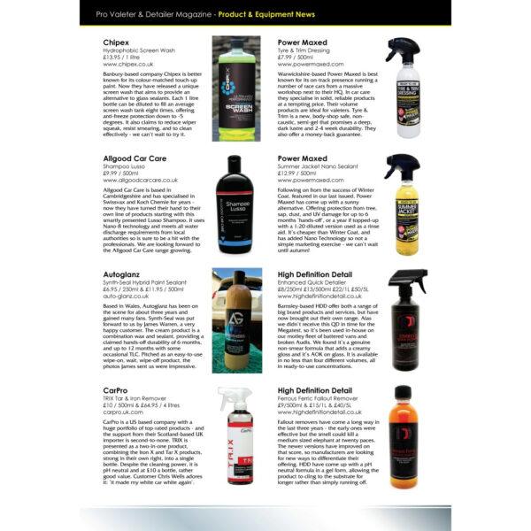 PRO Detailer Magazine - Nr. 3-2016 - Product & Equipment News