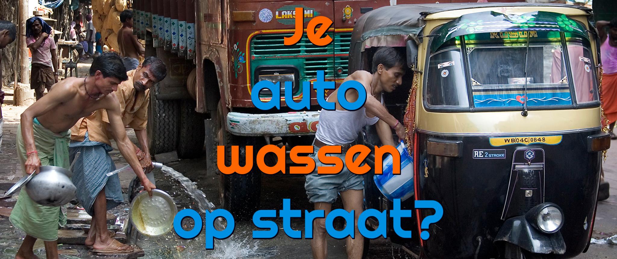 Mag je je auto wassen op straat? Hoe zit dat?
