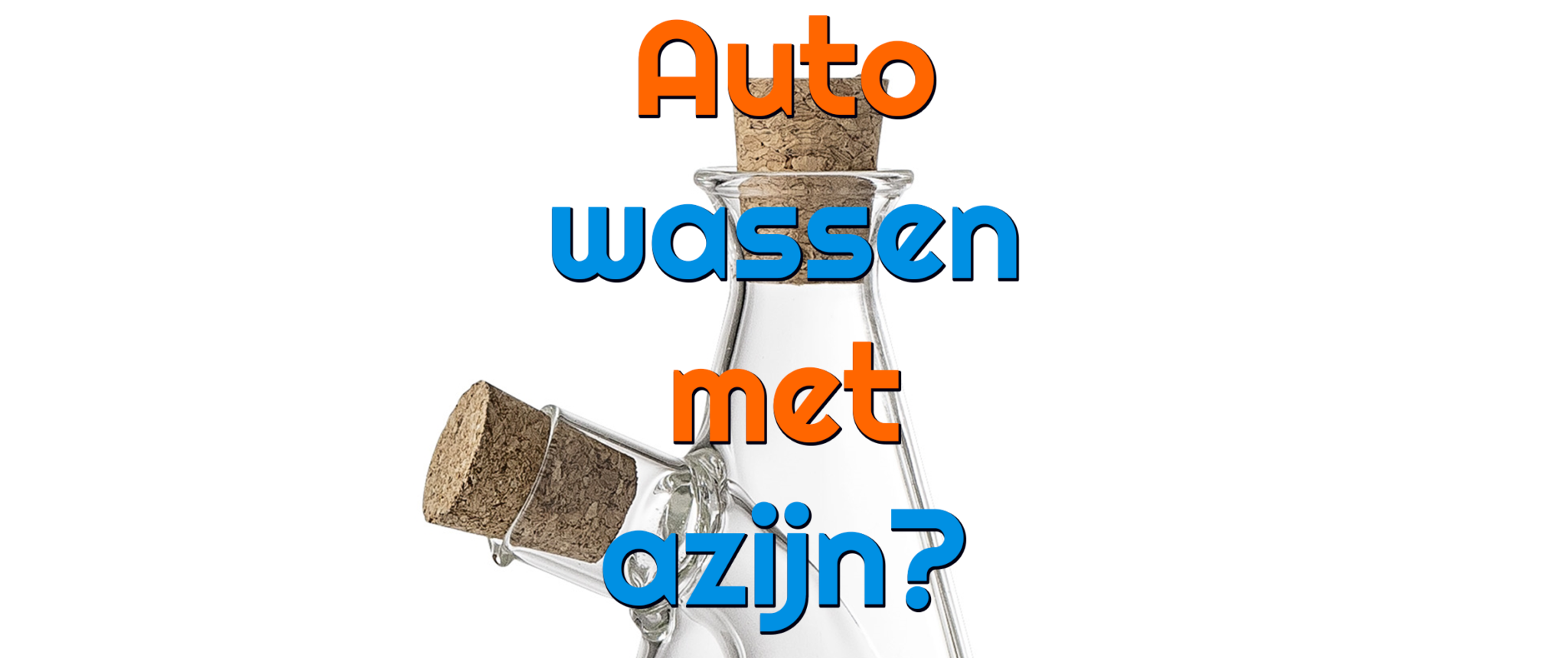 Auto wassen met azijn